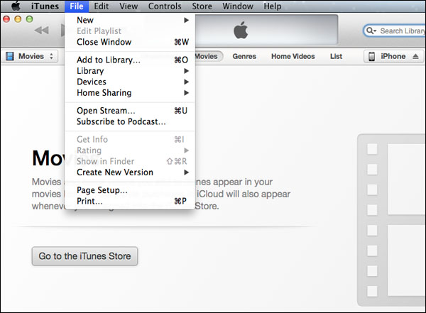 How to Add videos to the library in iPhone