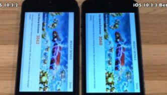 Comparison of speed: iOS 10.3.2 faces iOS 10.3.3 Beta 5