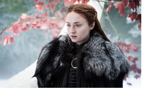 Sophie Turner as Sansa Stark in The Spoils of War, in an image previously released by HBO