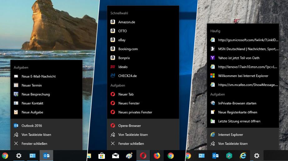 Windows Jumplists