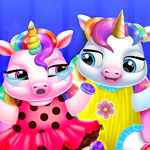 Twin Baby Unicorn Daycare - Care & Dress Up For PC (Windows & MAC)