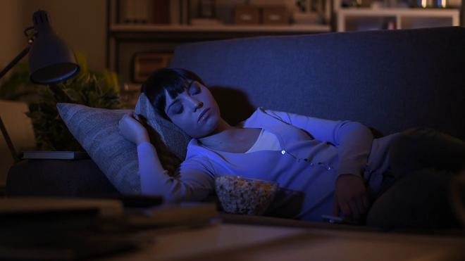 Research has identified weight gain in people who usually sleep with television on