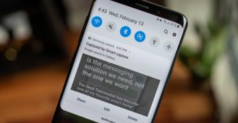 Take a screenshot on the Samsung Galaxy S9