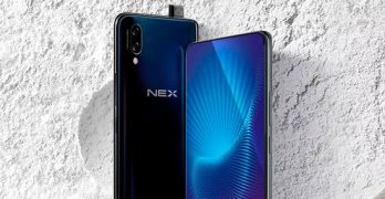 Vivo NEX 2: rendering shows smartphone with front composed only by screen