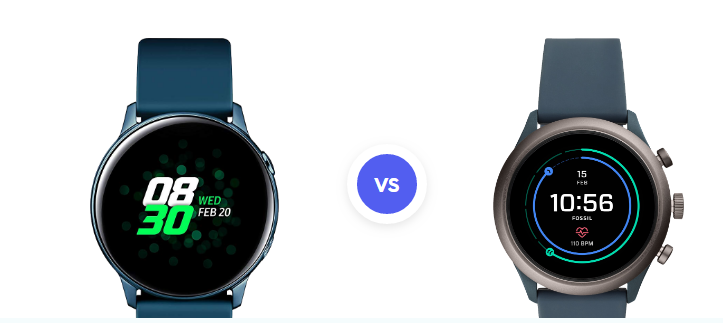 Samsung Galaxy Watch Active vs. Fossil Sport