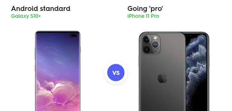 Samsung Galaxy S10+ vs. iPhone 11 Pro