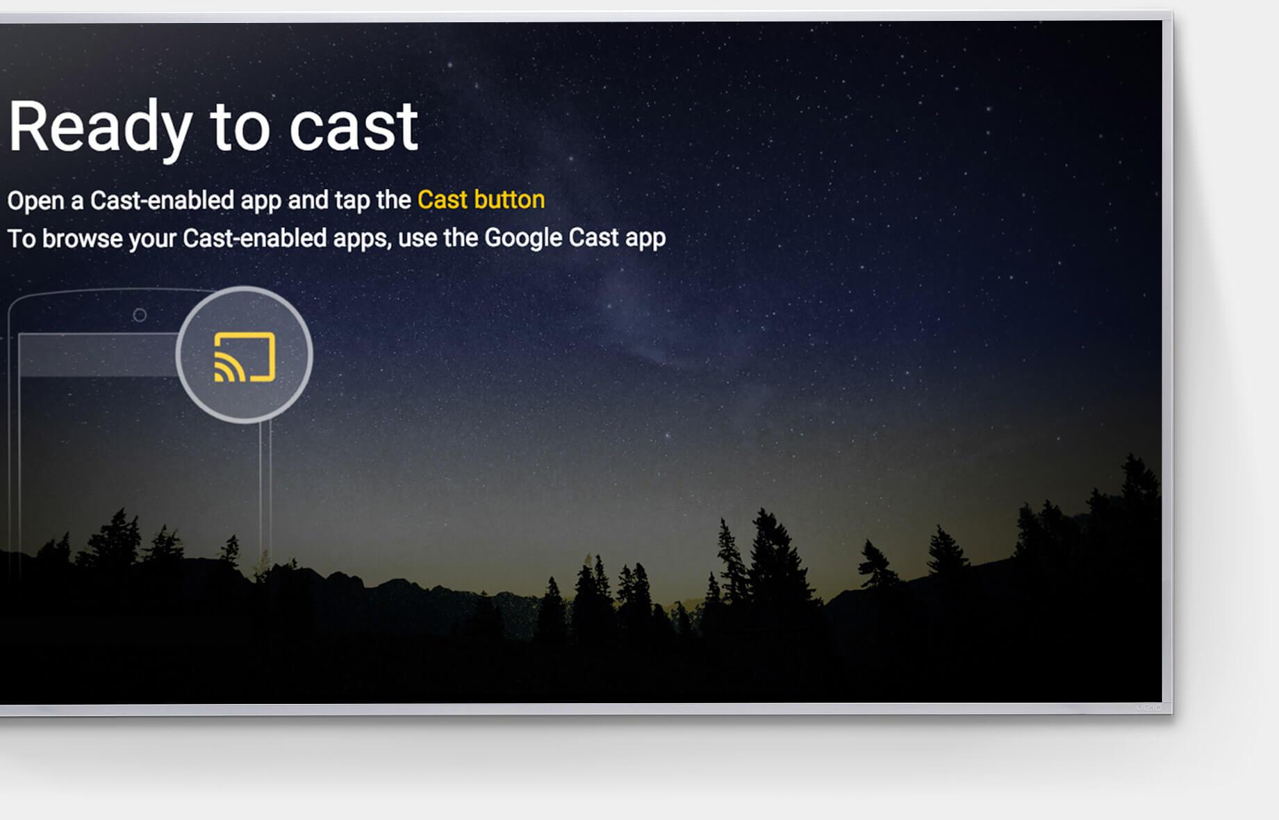 Built-in Chromecast