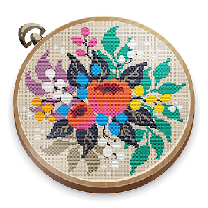 Cross Stitch Club  Color by Numbers with a Hoop